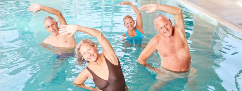 Sport et retraite aquagym