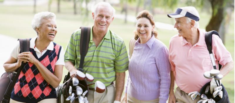 Sport et retraite golf